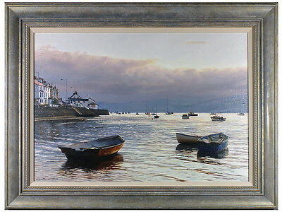 Peter Barker, RSMA - 'First Light, Aberdovey Harbour' - Original Oil on Canvas