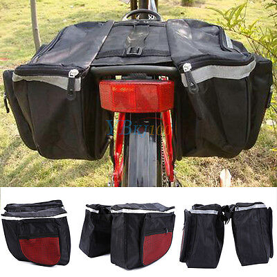 Cycling Bicycle Rack Back Rear Seat Large Storage Bag Carrier Double Pannier