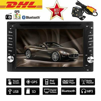 6.2'' Autoradio Gps Navigation Navi Bluetooth Touchscreen Dvd Cd Usb Sd2 Din