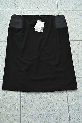 NEW Mamas and Papas WORK Maternity Black Knee Length Smart Skirt £34 Size 14