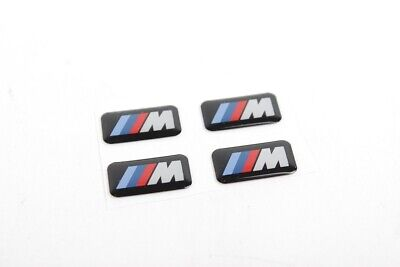 BMW Genuine M Sport Steering Wheel Emblem Set of 4 PCS M Badge NEW 36112228660