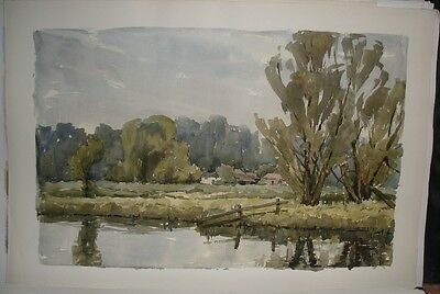 Original Watercolour painting of the River Test by Katherine William-Powlett