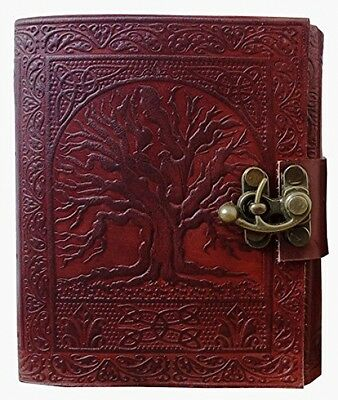 Tree Of Life Journal Leather With C-Lock Notebook Gifts For Men Women - NO TAX!