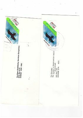 Australia 1993 Commercially Used BOX LINK Covers   ( 2 Covers )