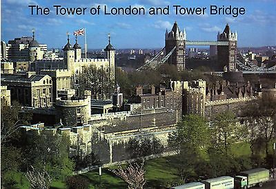 HQ - Postcard  -  The Tower of London and Tower of Bridge - new / Neu ungelaufen