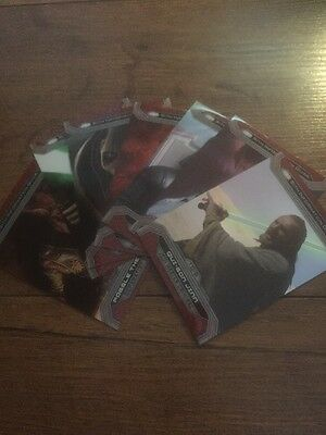 Star Wars Chrome Perspectives Jedi Vs Sith 7 Card Lot