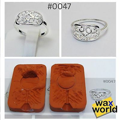 #0047 NEW RUBBER MOLD Wax Casting Jewelry Lost Wax Injection Casting ring
