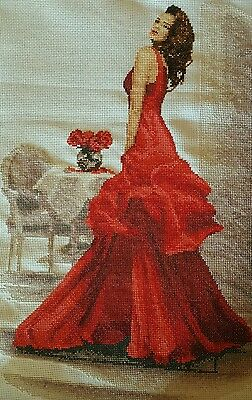 Completed cross stitch Elegant Lady - Susan Rider
