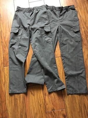 Grey Cargo School Trousers