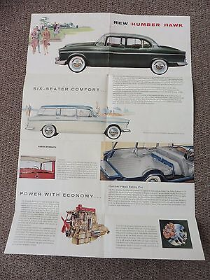 New Humber Hawk, Original Brochure / Poster, Very Good Condition