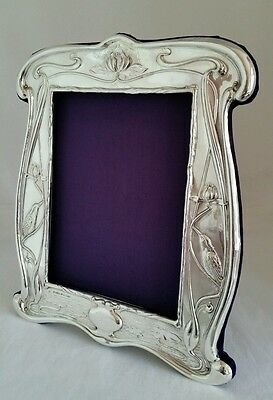 Art nouveau design sterling silver photograph frame.Chester1903By William Neale