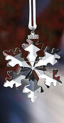 Swarovski Christmas Ornament 2016 Large Clear 5180210 Mint Boxed Retired Rare