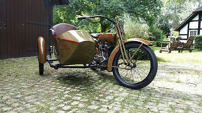 1920 Harley Davidson Motorcycle 20 FS with sidecar Classic Vintage rare