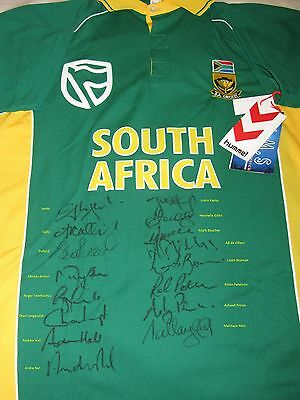 South African Proteas fully signed incl AB De Villiers, Smith, Kallis, Gibbs