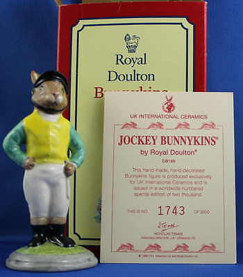 Royal Doulton Bunnykins - 'Jockey' - DB169 - Limited Edition Brand New in Box..