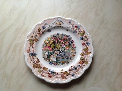 Royal Doulton Brambly Hedge autumn Plate