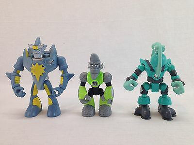 3 Fisher Price Planet Heroes Action Figure Lot