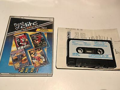 Best of Elite Vol 2 for Commodore 64 Game- Bomb Jack 2 Paperboy Ghosts n Goblins
