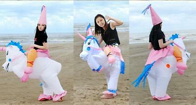 Inflatable Unicorn Adult Fancy Dress Costume Princess Hen Stag Night Outfit