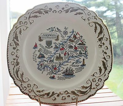 """VINTAGE """"CORNWALL"""" DECORATIVE WALL DISPLAY  PLATE (Land of History & Legends)"""