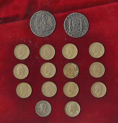 Spanish Coins x 12 - SEE DETAILS !!!
