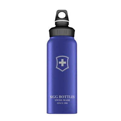 Sigg Wide Mouth Swiss Emblem Touch Size 1.0L in Blue