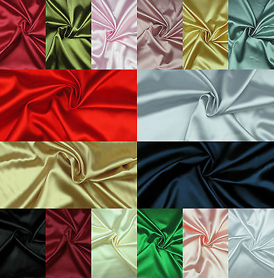 SILKY SATIN FABRIC Exclusive Poylester Plain Dress & Craft Material Extra Wide
