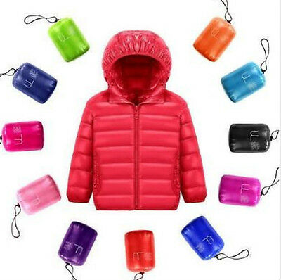 boys and girl super light ultra-thin hooded keep warm UNIQLO style jacket