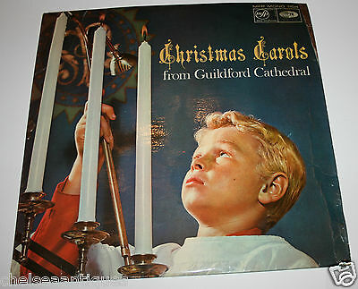 """1966 Christmas Carols from Guildford Cathedral Vintage 12"""" Vinyl LP Record"""