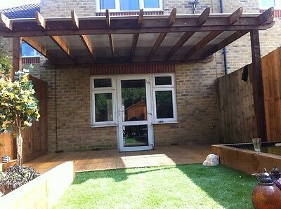 Wooden 4m X 3m Pergola, car Port, With Or Without Polycarbonate.  Built To Order
