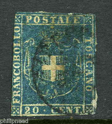 TUSCANY 1860 20c Blue Used - with watermark [P280