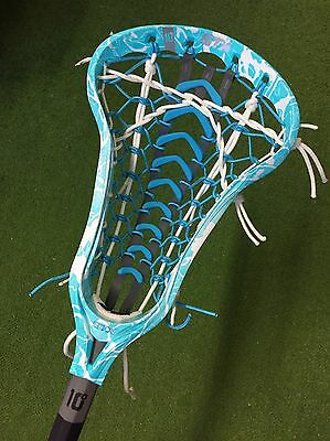 STX Crux i Women's Lacrosse Stick - Dyed Turquoise With Electric Launch Pocket