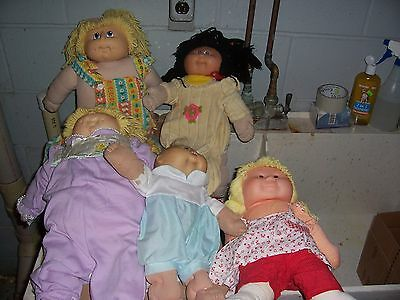 LOT OFassorted  5 CABBAGE PATCH DOLLS  & others