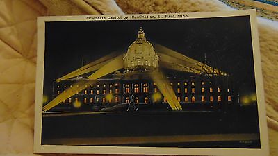 1930 State Capitol By Ilumination, St Paul, Minneapolis