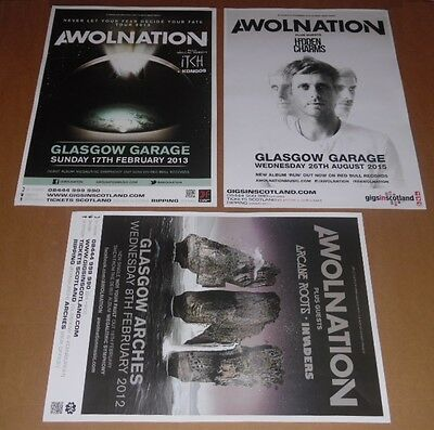 AWOLNATION posters - collection of 3 tour concert / gig poster
