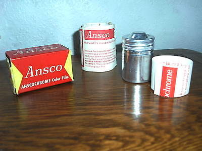 Vintage Ansco Anscochrome 35 Color Film with Original Packaging. 1965