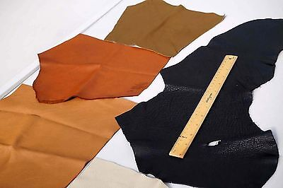Assorted Cowhide leather scrap pieces/off-cuts 2-3 hands 0.45 KG