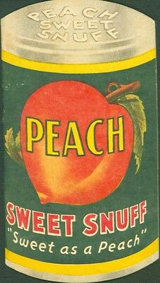 Memphis Tn Peach Sweet Snuff Tobacco Notebook~Shaped Like Can Of Peaches 1950