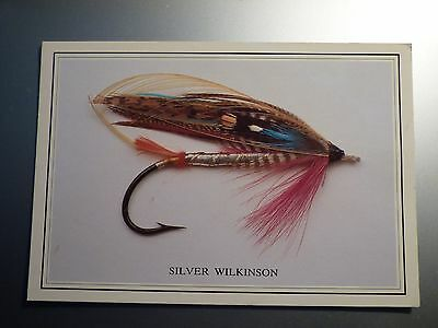 Vintage Salmon Fly Post Card, Angling Fly Fishing