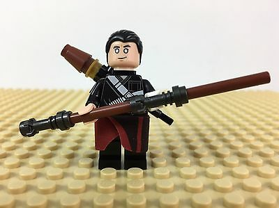 Lego Star Wars Minifigure Chirrut Imwe C/W Weapons From 75152 Roque One