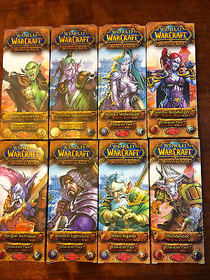 World of Warcraft - The Adventure Game  8 CHARACTER PACKS new english