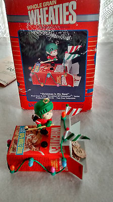 Vintage 1991 Enesco Christmas Ornament - Wheaties Christmas Is My Goal - Hockey