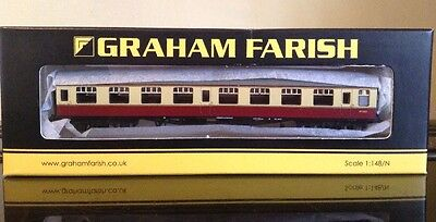 Graham Farish 374-010D. Mk1 SO Second Open Coach. BR Crimson & Cream. N Gauge.