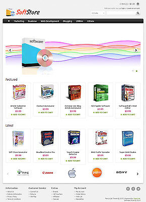 Software Store Website For Sale - 50+ Products Preloaded