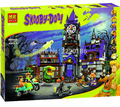 New Scooby Doo Mysterious Ghost House Blocks Minifigures Building Blocks Toys