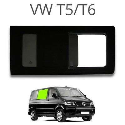 Left opening window (privacy) OLD STYLE for VW T5 / T6 - EUROPEAN RIGHT HAND DRI