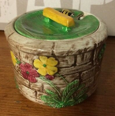 Vintage Falcon Ware Wishing Well Hand Painted Preserve Pot