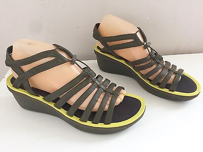 As New CAMPER LIGHTWEIGHT Leather Sandals Wedge Heels  Size 40 (9) #8305
