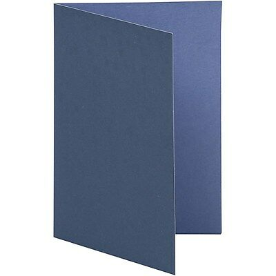 Navy Blue Greeting Notecards - Set of 10 - Craft Decorate Textured Two Tone
