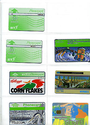 BT / Nynex Phone Card Bundle, 20 cards, various denominations and promotions